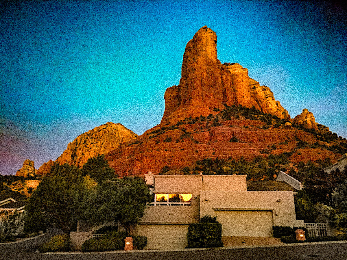 Reverse Sunrise - Coffeepot Cottages - Sheri Sperry Coldwell Banker top sedona real estate agent